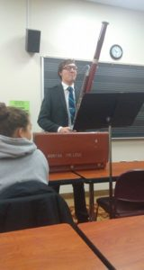 Brother Bielskis Performs for Music History Class (Adrian 20171109)