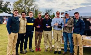 Brothers Volunteering at the Clearview Cancer Institution's Annual Cook-Out (Alabama Huntsville 20171029)