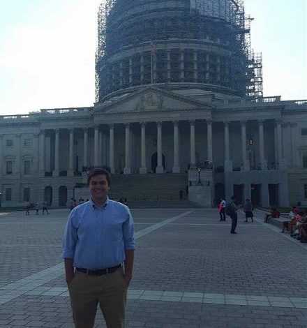 Kappa Nu Member interns in Washington D.C. (Arkansas Tech 20150920)