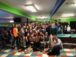 Rollerblading with Gamma Phi Beta (Grand Valley State 20170226)
