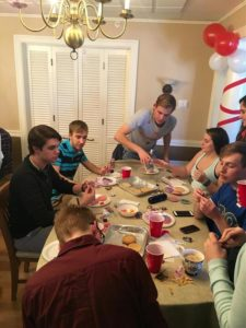 Tri Delta, ATO, cookie exchange (Millikin 20160228)