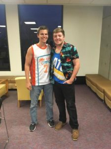 Brothers participate in Theta Phi Alpha's Sapphire Man (Northern Kentucky 20170328)