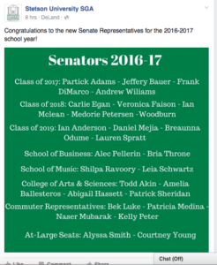 Brothers Elected to SGA (Stetson 20160225)