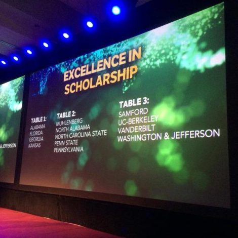 Alpha Pi Receives Excellence in Scholarship Recognition (Washington & Jefferson 20150907)