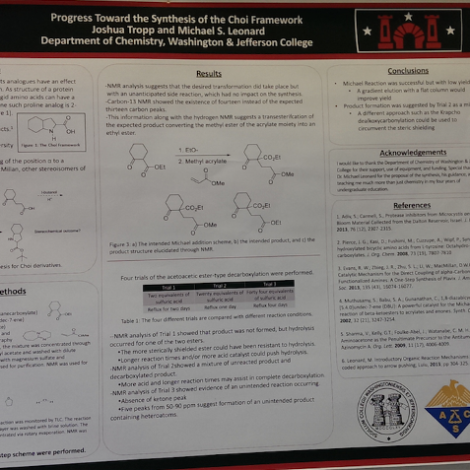 Brother's Research Featured in Hallway of Swanson Science Center (Washington & Jefferson 20150910)