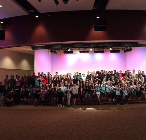WTAMU Greek Community Raises Stacks on Stacks (West Texas A & M 20160311)