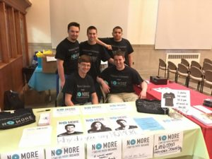 Brothers Sell Shirts to Raise Money for Domestic Abuse Awareness! (Widener 20160324)