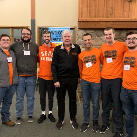 Brothers reconnect with an alumni at LeaderShape