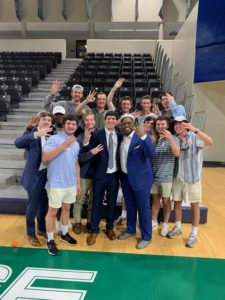 Brothers of Kappa Omega Chapter Win Homecoming Kind and Duke