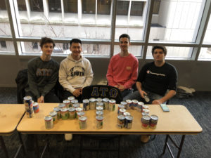 Iota Psi helps food pantry