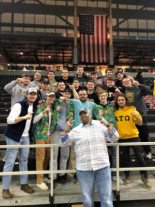 Theta Omega Brothers Attend NKU Women's Basketball Game
