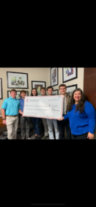 ATO Presents Chili Fest Check to UA Women and Gender Resource Center
