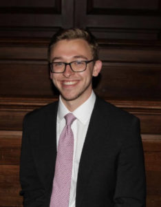 Tyler Bernier, recently inducted into Beta Gamma Sigma Business Honors Society, excited for his next chapter at JPMorgan Chase!