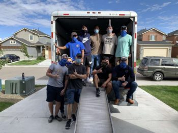 The Lambda Gamma chapter helps an ATO Alumnus Move!