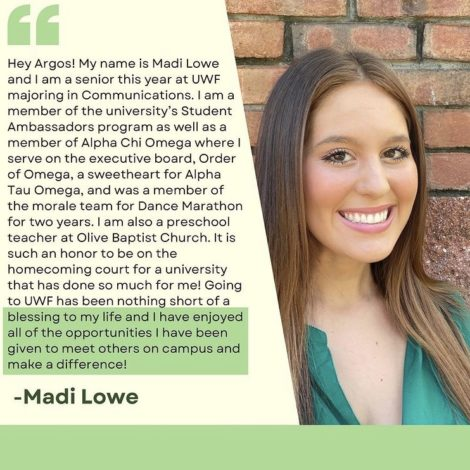Sweetheart Madi Lowe Nominated for Homecoming Court